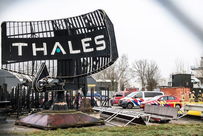 De politie en brandweer aanwezig in Hengelo