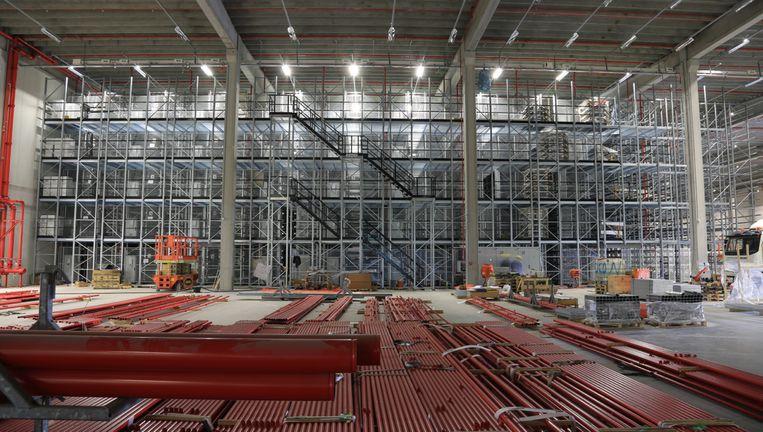 Het nieuwe moderne distributiebedrijf van Wehkamp in Zwolle, dat deze zomer zal worden geopend. Beeld Wehkamp