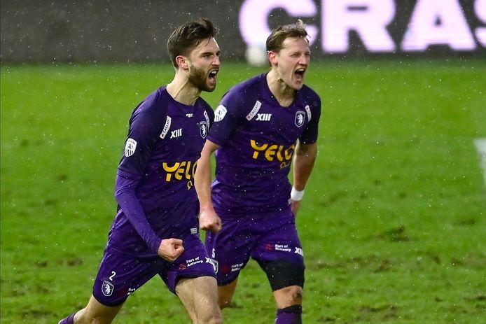 Jan Van Den Bergh en Joren Dom: twee doelpuntenmakers van de drie doelpuntenmakers bij Beerschot.