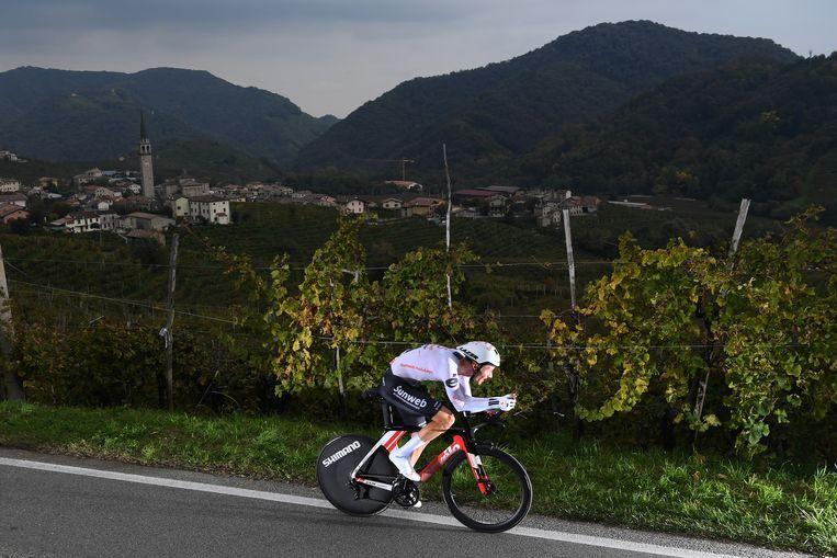 Wilco Kelderman tijdens de Giro d'Italia van dit jaar. Beeld Getty Images