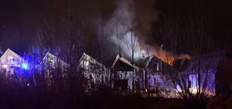 Brand bij oude Tweka-gebouw in Geldrop
