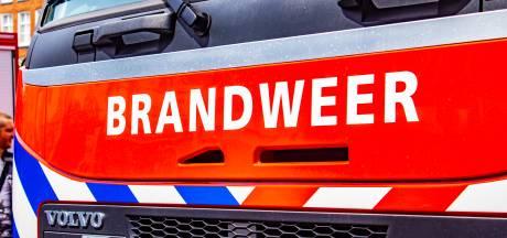 Brand bij machine in pand in Haaksbergen