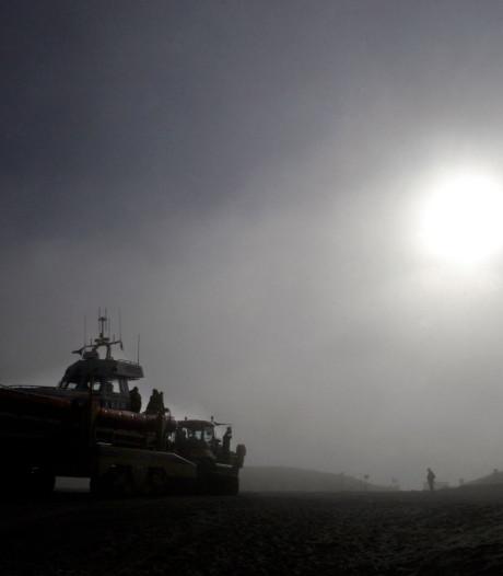Zeevlam brengt dichte mist naar Scheveningen