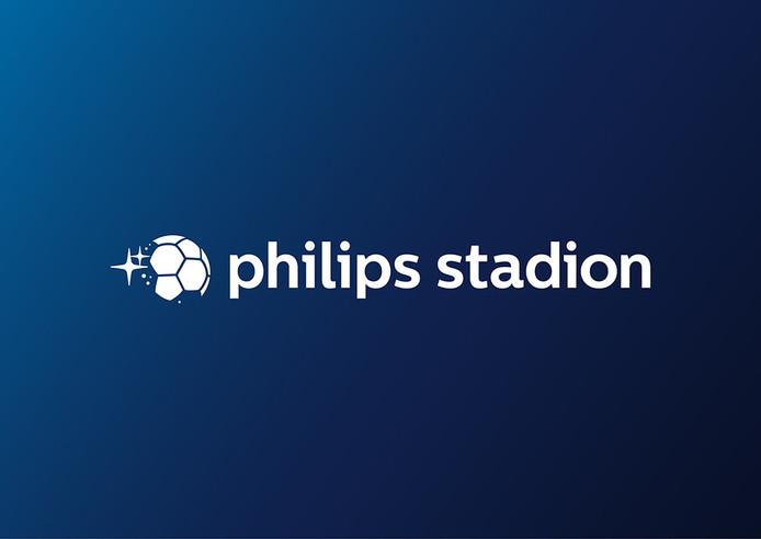 Het nieuwe logo van het Philips Stadion.