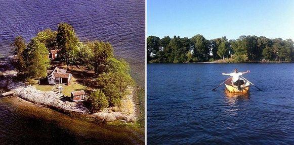 Je kan een week gratis verblijven op dit Zweedse privé-eiland wanneer je de eigenaar kan overtuigen van jouw project.