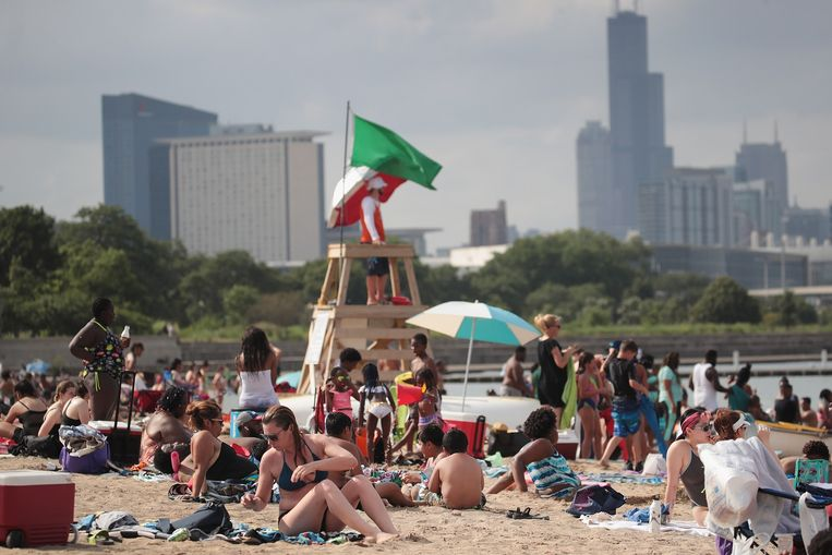 Street Beach in Chicago, Illinois.