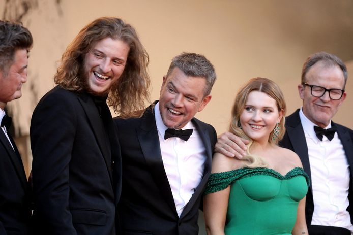 Idir Azougli, Matt Damon, Abigail Breslin et Tom McCarthy