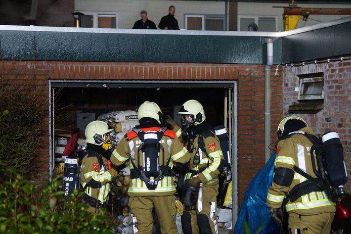 Grote schade bij brand in Kaatsheuvel.