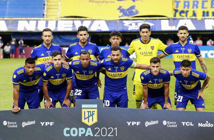 De opstelling van Boca Juniors.