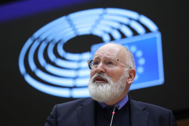 Commissaris Frans Timmermans. Beeld AFP