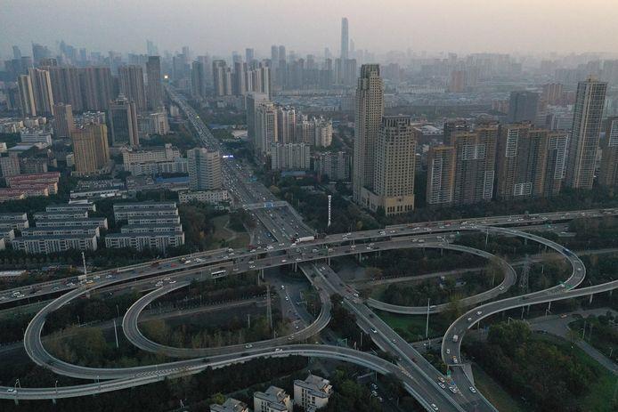 Luchtfoto van Wuhan.