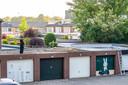 Eén van de verdachten werd opgepakt op de Tilburgse De Fallastraat, het gaat niet om de gebruiker van de garageboxen.