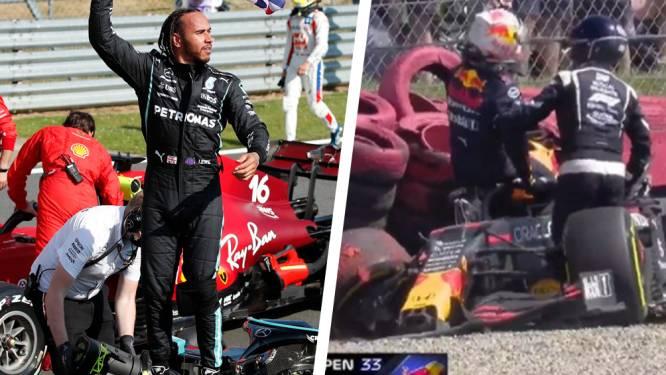 Wat een suspense: Hamilton knalt Verstappen al in openingsronde uit de race, waarna hij na bloedstollend einde ook nog zege pakt