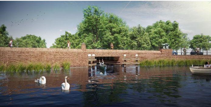De toekomstige duiker in de Oostdam