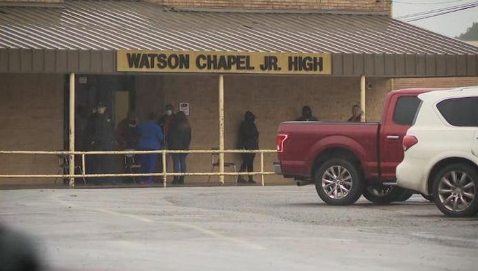 De schietpartij vond plaats in de Watson Chapel Junior High School in Pine Bluff.