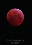 De bloedmaan gefotografeerd in Balkbrug