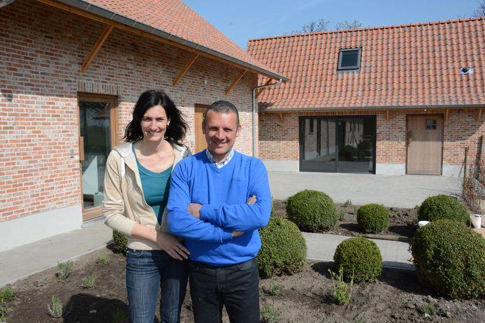 Isabel Coppieters en Berten Meersschaert van fruitbedrijf Berckelaer.