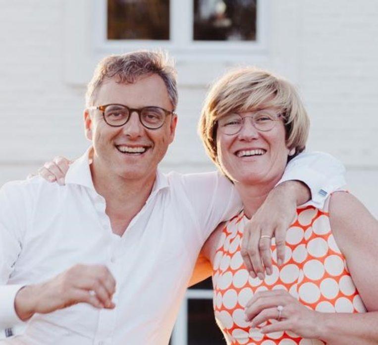 Joachim Coens en echtgenote Kristin Dewever.