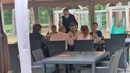 """Koninklijke verrassing in Merchtem: """"Plots zaten Filip en Mathilde pasta te eten op ons terras"""""""