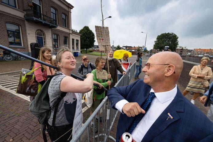 Burgemeester Bort Koelewijn nam dit weekend afscheid van Kampen, waar hij twaalf jaar burgemeester was.
