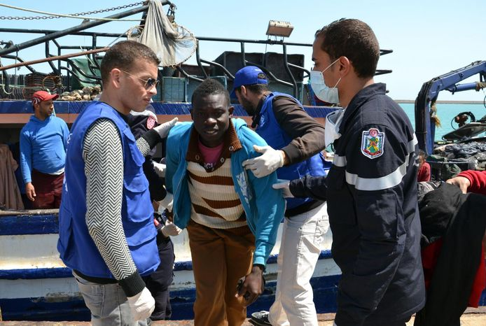 Migranten komen aan in Zarzis, Tunesië, toen het wel nog vluchtelingen toeliet. (Archieffoto)