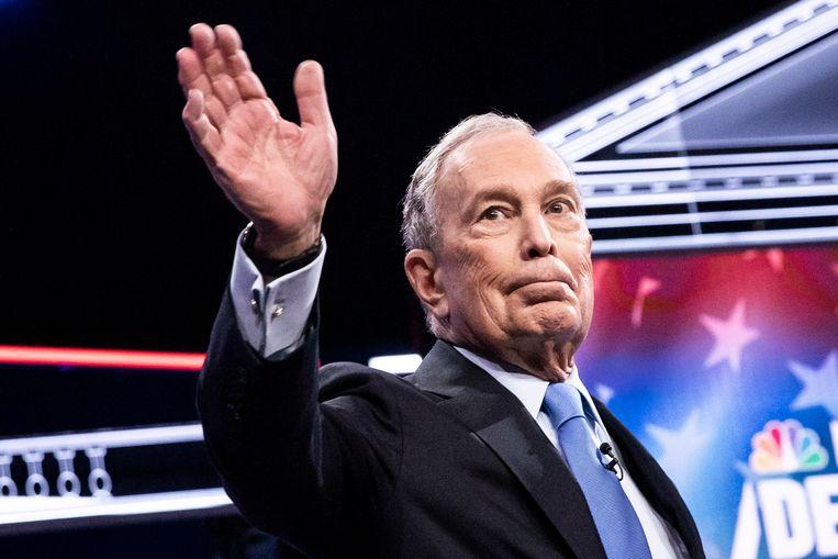 Voormalig burgemeester van New York en miljardair Michael Bloomberg.  Beeld EPA