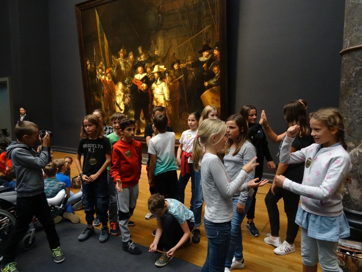 De Nachtwacht van Rembrandt van Rijn maakte indruk.