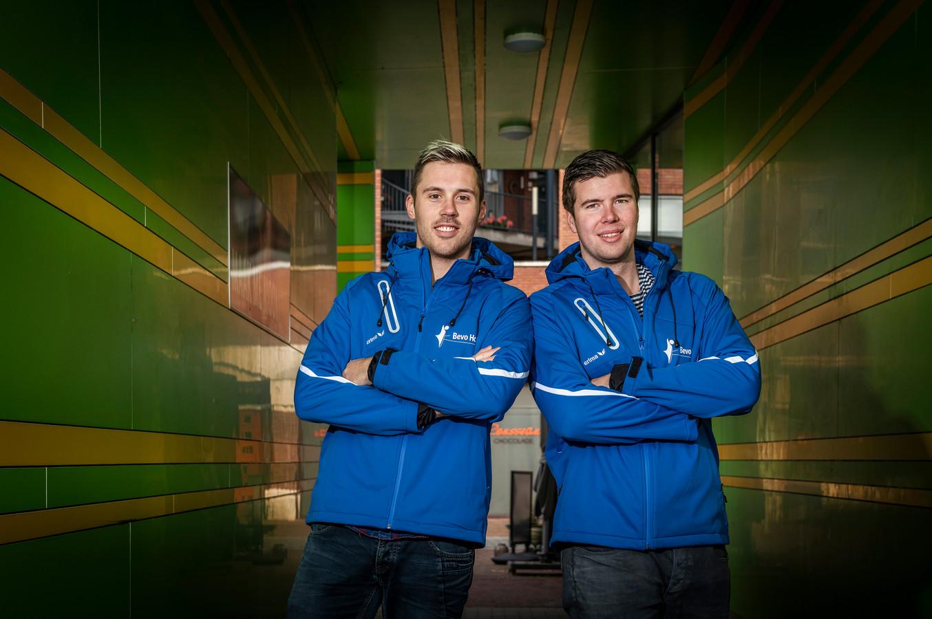 Bevo-spelers Niek Jordens en Nick de Kuyper.