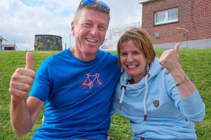 Edward Van Geyte en Christine uit Lokeren verblijven vier dagen in de Druivenstreek voor het WK wielrennen