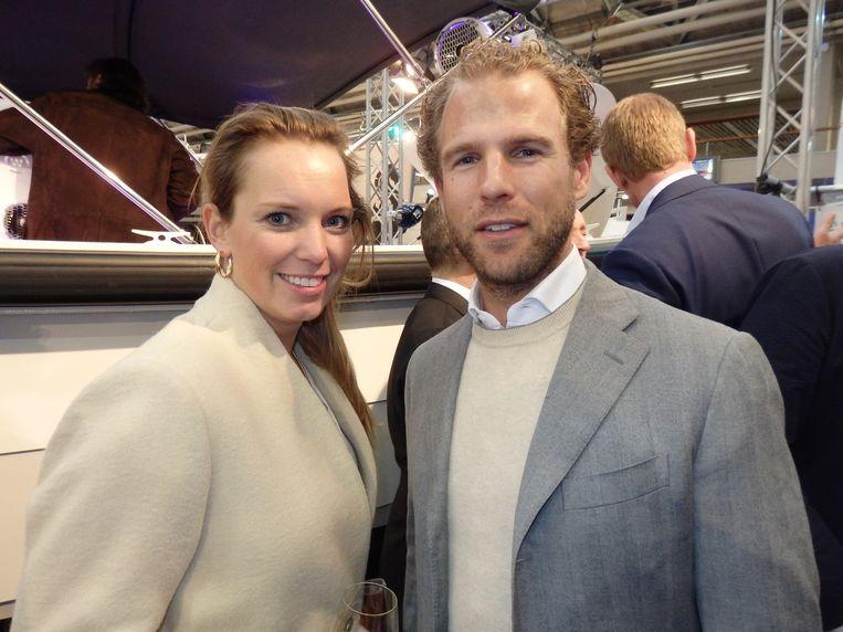 Denise Boekhoorn, dochter van Marcel Boekhoorn (1,3 miljard euro), en haar man, autocoureur Giedo van der Garde. Beeld Schuim