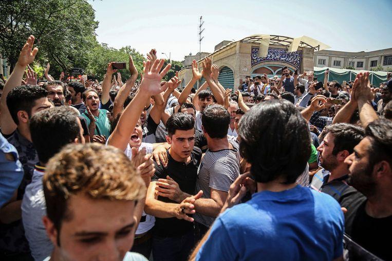 Afkari zou tijdens straatprotesten in 2018 een man gedood hebben, maar zijn bekentenis wordt in twijfel getrokken. Beeld AP