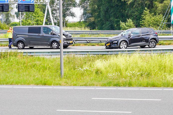 Snelweg A2 dicht door ongeval.