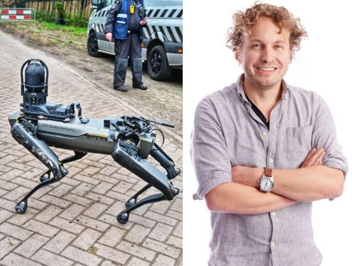 De robothond in actie bij het drugslab in Wernhout. Handig voor de politie, vindt columnist Niels Herijgens, en tegelijk verontrustend.