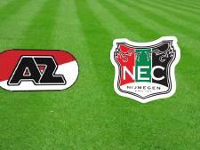 LIVE: NEC opent jacht op koppositie tweede periode ongewijzigd tegen Jong AZ