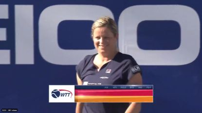 Daar is Kim! Clijsters boekt zege in showcompetitie 'World Team Tennis'