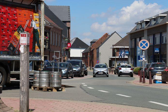 Het Marktplein in Galmaarden.