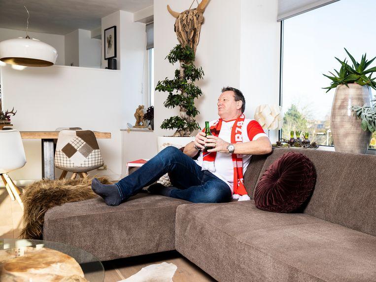 Teun den Hartog moet nu thuis op de bank naar de wedstrijden van FC Utrecht kijken. Beeld Jiri Büller