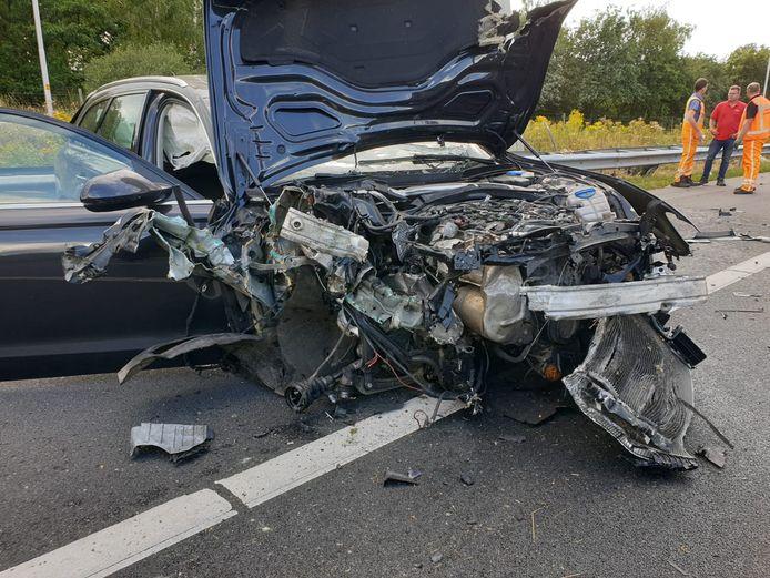 De auto raakte total loss