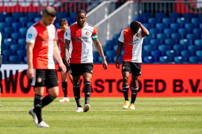 Teleurstelling bij Spelers van Feyenoord.