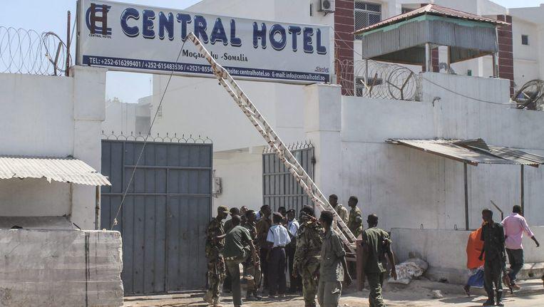 Het hotel in Mogadishu waar de aanslag gepleegd werd. (archiefbeeld) Beeld epa