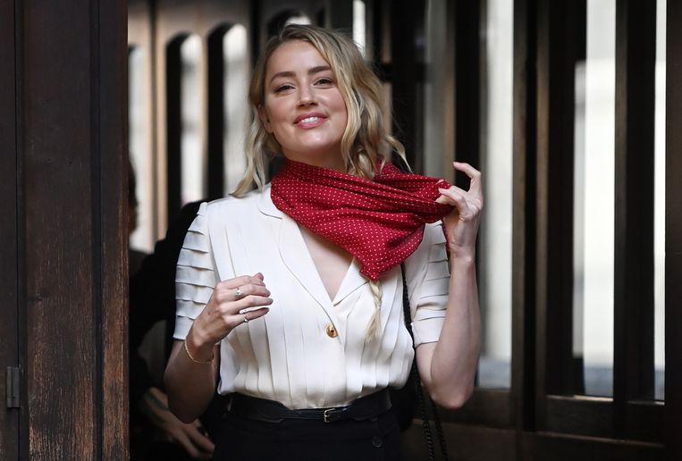 Amber Heard komt toe op het proces deze zomer.  Beeld EPA
