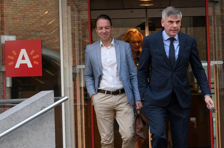 Sam Van Rooy en Filip Dewinter. Beeld Photo News