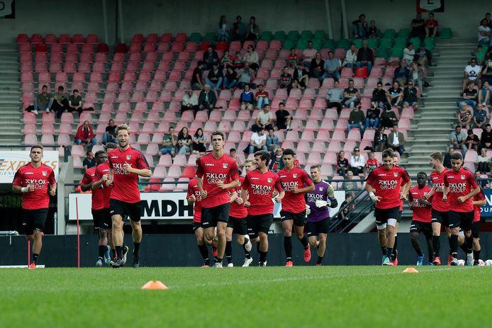 NEC'ers tijdens de eerste training van het seizoen 2020/2021.