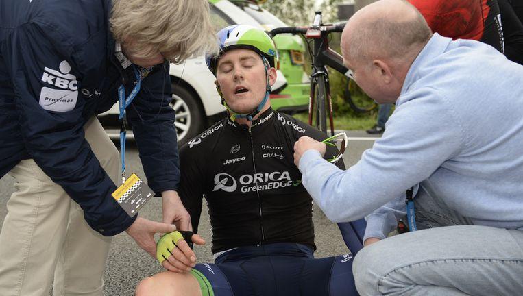 Luke Durbridge ging in de Ronde tegen het asfalt. Beeld BELGA