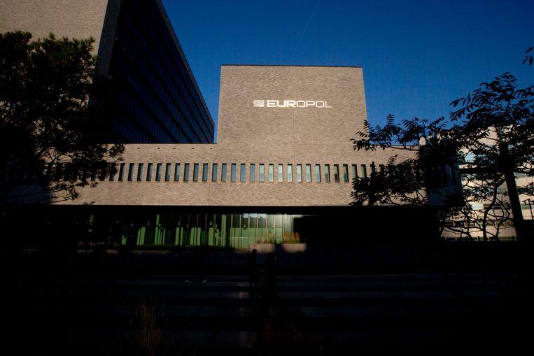 Het hoofdkantoor van Europol in Den Haag, Nederland Beeld AP