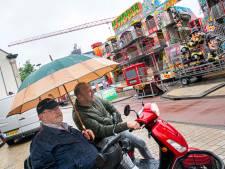 Weer of geen weer: opbouw Tilburgse kermis in volle gang