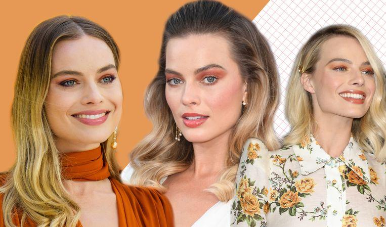 Actrice Margot Robbie is grote fan van oranje oogschaduw