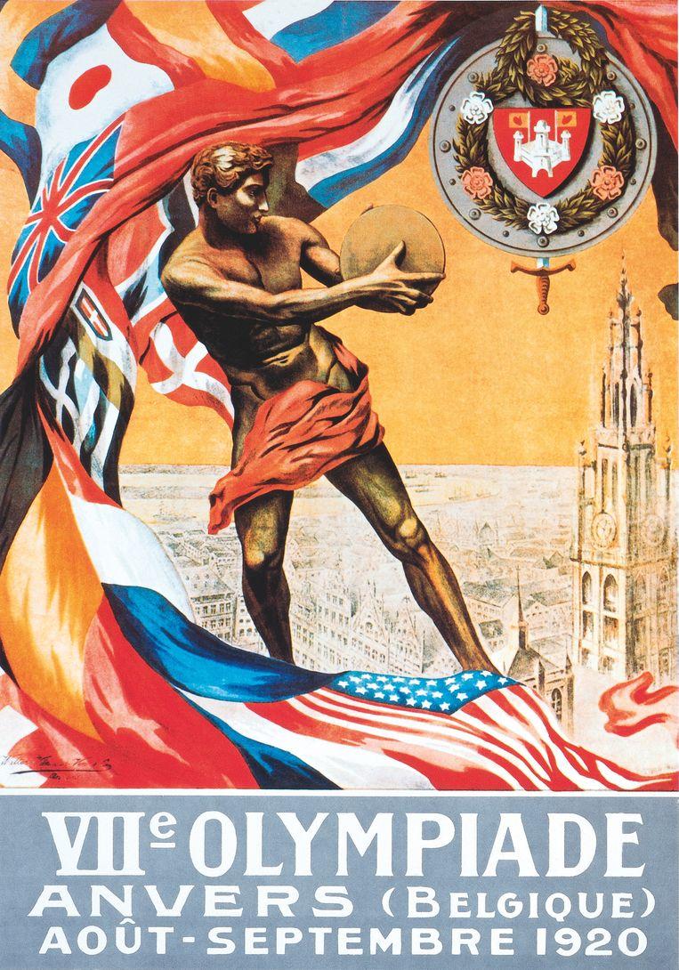 De officiële affiche van Antwerpen 1920.