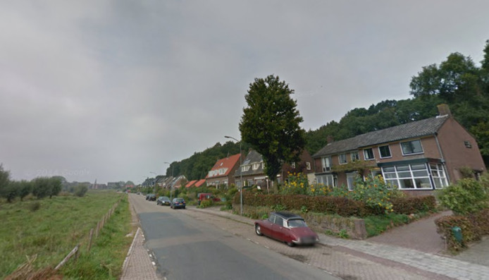Veerweg in Wageningen, voor aanleg van de snelfietsroute.