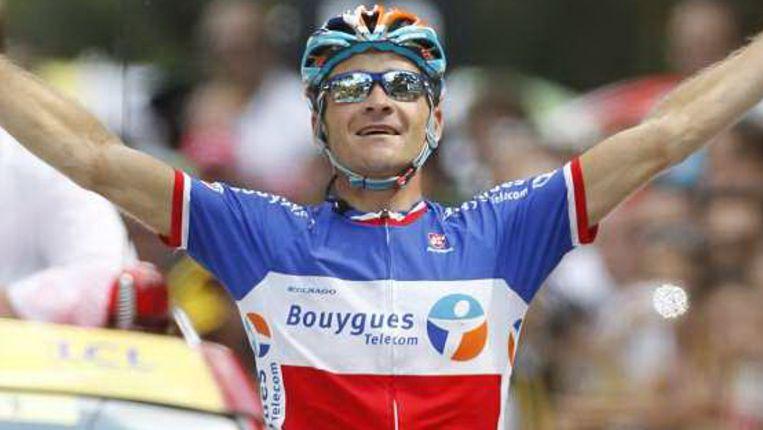 Etappewinnaar Thomas Voeckler. (AP) Beeld
